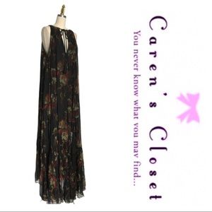 Free People Black Floral Boho Maxi Dress